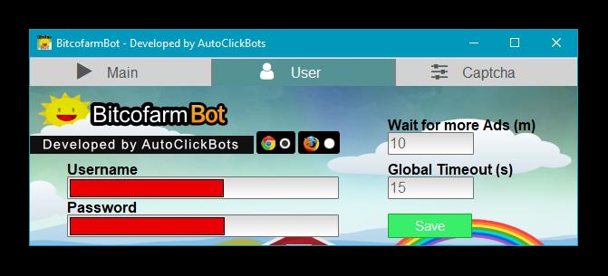 BitcofarmBot / User Settings