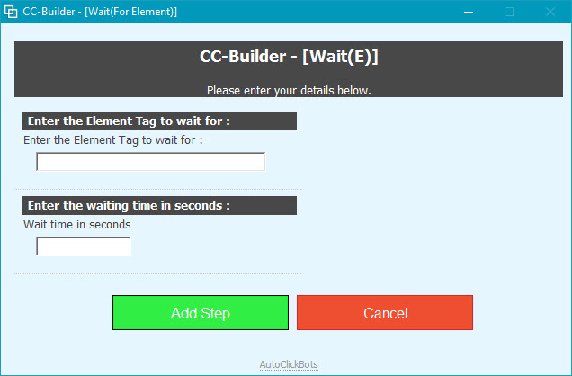 CC-Builder / Wait(For Element)