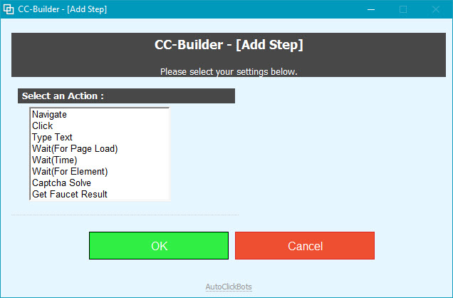 CC-Builder / Add Step
