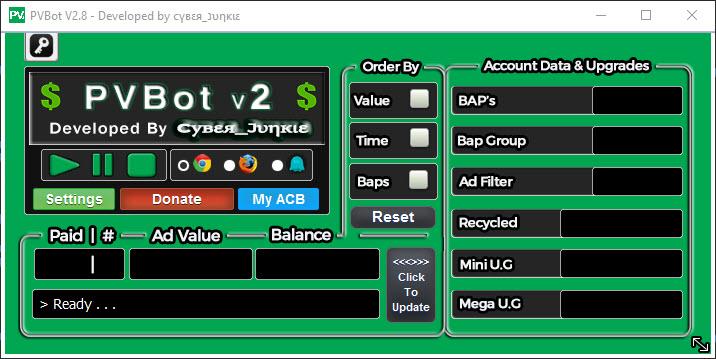 PVBot / Main App UI