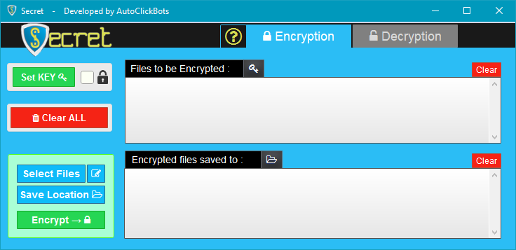 Secret / Encryption GUI