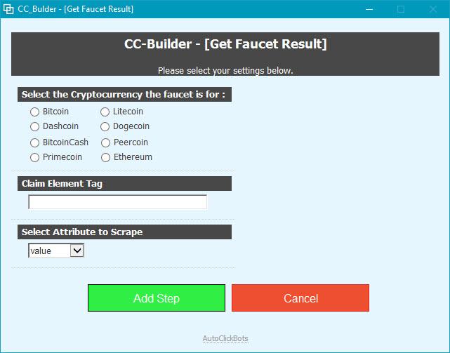 CC-Builder / Get Faucet Result