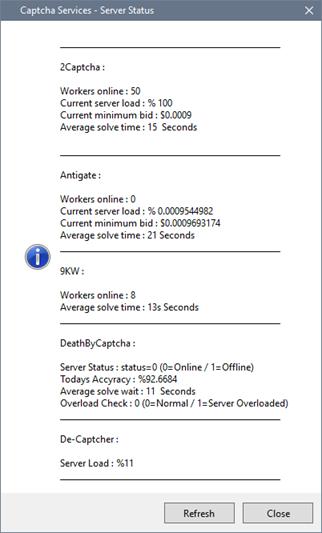 CoinCollector / Captcha Server Status