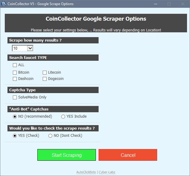 CoinCollector / Google Scraper