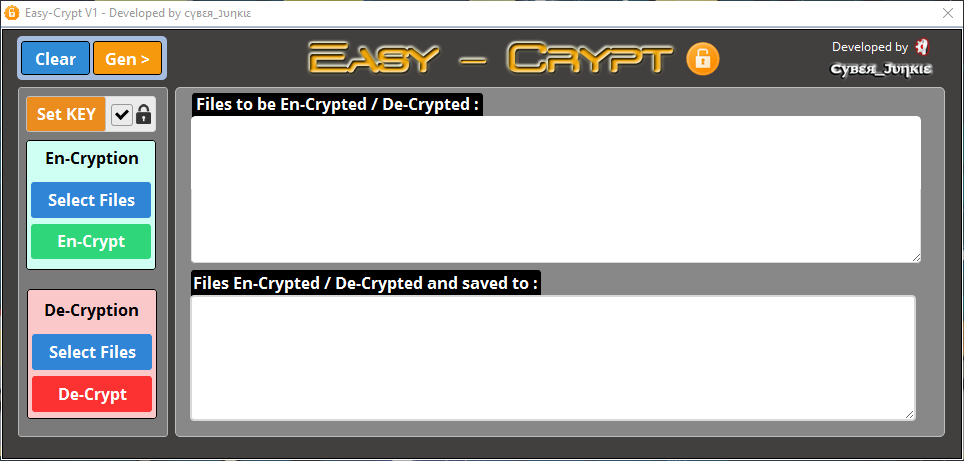 Easy-Crypt - Lightening Fast Encryption/Decryption