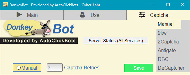 DonkeyBot / Captcha Settings
