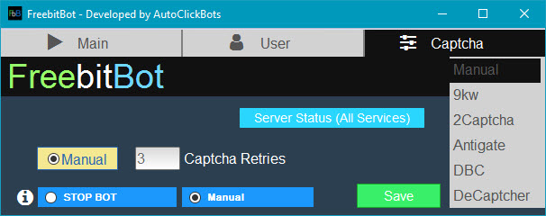 FreebitBot / Captcha Settings