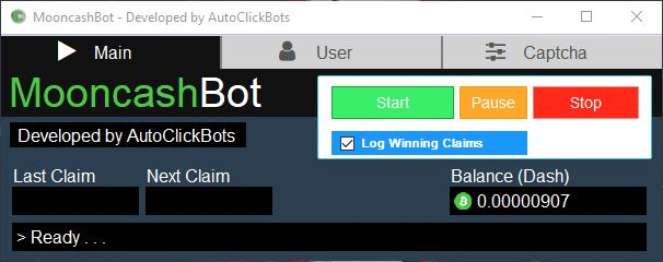 MooncashBot / Main UI