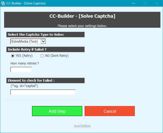 CC-Builder / Solve Captcha