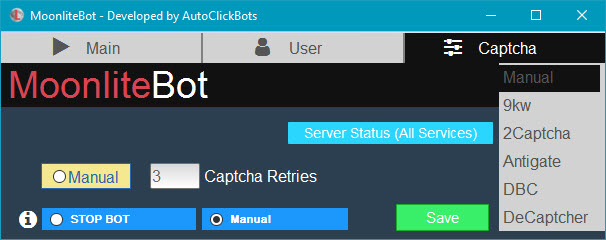 MoonliteBot / Captcha Settings