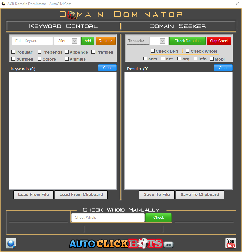 Domain Dominator App View