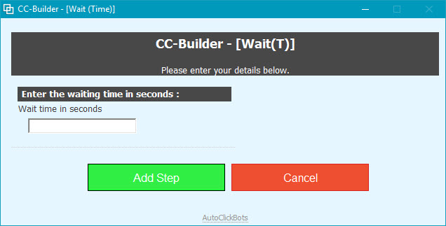 CC-Builder / Wait(Time)