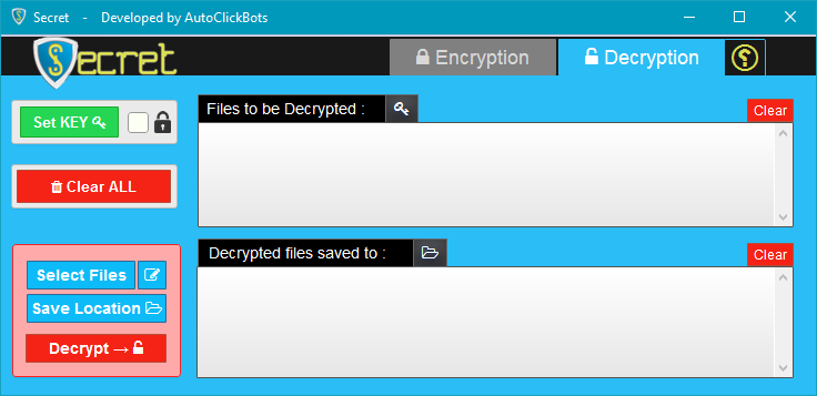 Secret / Decryption GUI
