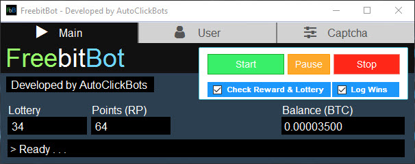 FreebitBot / Main User Interface
